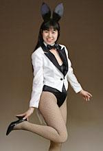 バニーガールの燕尾服(白地+黒衿)