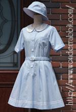 らびっと学園の盛夏服(半袖)・水色・F ※刺繍無しの現行バージョンです