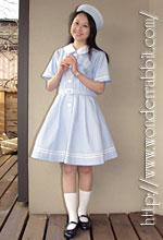 らびっと学園の盛夏服(半袖)・水色