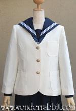 A026441 丸裾シングル学生ジャケット(白・L)