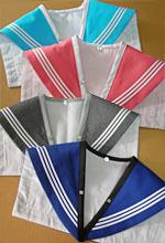 夏用セーラー服の付け替えオプション衿