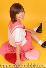 K020121半袖セーラー上着単品にピンクの衿袖パーツを付け替え+A025813無地プリーツスカート(ピンク)丈加工37cm+エンジスカーフ