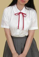 女子用スクールブラウス(丸衿)