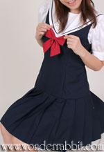 Reticule&Wonder Rabbit コラボレーション学生服、三角衿ブラウス+ローウエストジャンパースカート