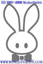 Wonder Rabbitオリジナルのマスコットキャラ、「うさぎマーク」(仮称)