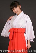 巫女衣装「竹」(白衣+袴)